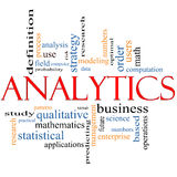 Analytics Word Cloud Concept Royalty Free Stock Photography