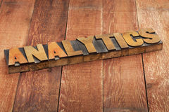 Analytics word typography Royalty Free Stock Photography