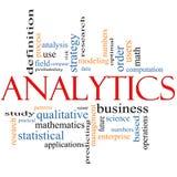 Analytics-Wort-Wolken-Konzept stock abbildung