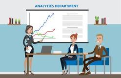 Analyticsavdelningskontor royaltyfri illustrationer