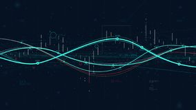 Analyticsindikatoren Daten der Statistiken große, digitales Diagramm der Geschäftsstrategie, das Fortschritt anzeigt stock abbildung
