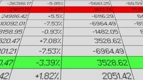 Analyticsprogramvara som bearbetar statistik data, procentsatsdiagram, stiger och tappar royaltyfri illustrationer
