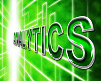 Analyticsrengöringsduken visar Websites mätning och optimering vektor illustrationer