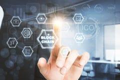 Analytik und blockchain Konzept Lizenzfreie Stockbilder