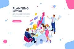 Analytiker-Planner Earning Financial-Fahne vektor abbildung
