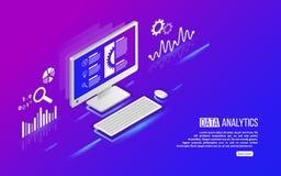 Analytikinformationen über Computer Stockbild