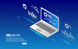 Analytikinformationen über Laptop Lizenzfreie Stockfotografie