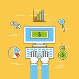 Analytique et investissements plats illustration libre de droits