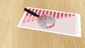 Analytische datenverarbeitende Auswirkungen auf Papier, Finanzstatistik, Unternehmensplan stock video footage