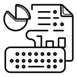 Analytische Ikone der Daten lizenzfreie abbildung