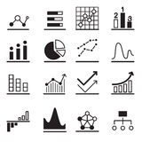 Analytischer Diagrammikone Satz Stockfoto