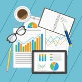 Analytisches Konzept des Geschäfts Planung und Buchhaltung, Analyse, Finanzprüfung, seo Analytik, Funktion, Management Lizenzfreie Stockfotografie