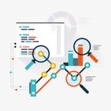 Analytisk motor royaltyfri illustrationer