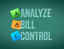 Analyze bill control post board sign illustration Royalty Free Stock Photo