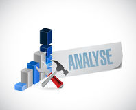 Analyze business sign illustration design Stock Photo