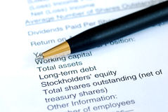 Analyze the financial statement Royalty Free Stock Photography