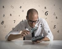 Analyze the numbers royalty free stock photos