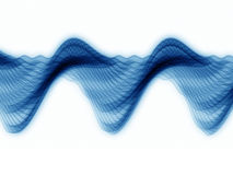 Analyzer Sine Waves. Abstract sine waves rendered in blue against white background Stock Photography