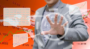 Analyzer working with touch screen Royalty Free Stock Images