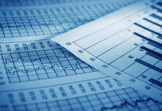 Analyzing. Analysis of the financial information Royalty Free Stock Image