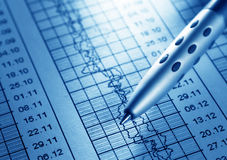 Analyzing. Analysis of the financial information Royalty Free Stock Photo