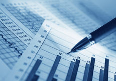 Analyzing. Analysis of the financial information Royalty Free Stock Photos