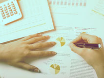 Analyzing Business Data Royalty Free Stock Photography