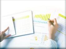 Analyzing Business Data Stock Image