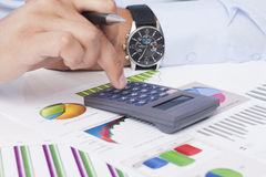 Analyzing Business Data Stock Photo