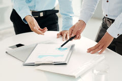 Analyzing business document Royalty Free Stock Images