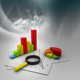 Analyzing Business graph Royalty Free Stock Photography