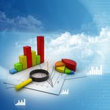 Analyzing Business graph Stock Photos
