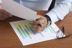Analyzing Business growth Stock Photography