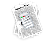Analyzing business news. Analyzing for the latest business news. 3d rendered Illustration Royalty Free Stock Photography