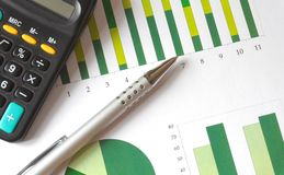 Analyzing a chart Royalty Free Stock Photo