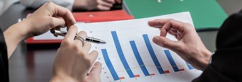 Analyzing company profits Royalty Free Stock Image