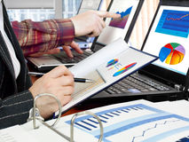 Analyzing data Royalty Free Stock Image