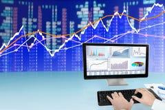 Analyzing Data on Computer Royalty Free Stock Photo