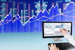 Analyzing Data on Computer Royalty Free Stock Image