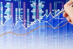 Analyzing Data on screen Stock Photo