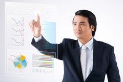 Analyzing diagram Royalty Free Stock Photos