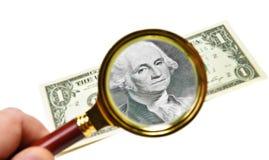 Analyzing dollar Royalty Free Stock Photography