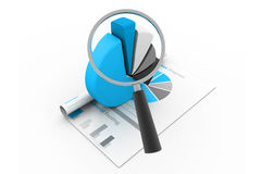 Analyzing the  Economical business graph Stock Images