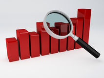 Analyzing the Economical business graph Royalty Free Stock Image