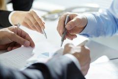 Analyzing financial plan Stock Image