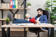 Analyzing financial report. Accounting and banking. Guy banker accountant learn indicators markers. Financial report. Owner of small business. Man bearded stock photos