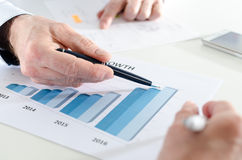 Analyzing growing results Royalty Free Stock Image