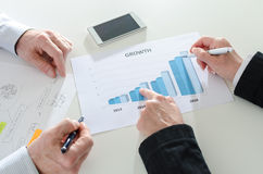 Analyzing growing results Royalty Free Stock Photo