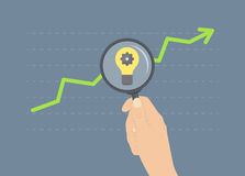 Analyzing growth flat illustration concept Stock Photography