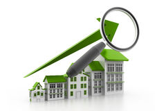 Analyzing the housing market graph Royalty Free Stock Photo